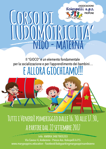 corso di ludomotricità - baby parking Mary Poppins Andezeno - alternativa all'asilo nido