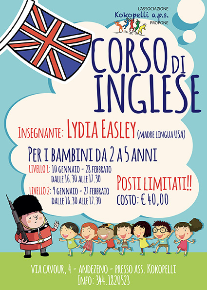 corso di inglese - baby parking Mary Poppins Andezeno - alternativa all'asilo nido