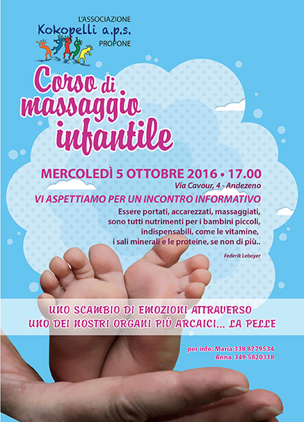 massaggio infantile - baby parking Mary Poppins Andezeno - alternativa all'asilo nido